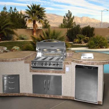 3 Piece Island with 32 BBQ Grill