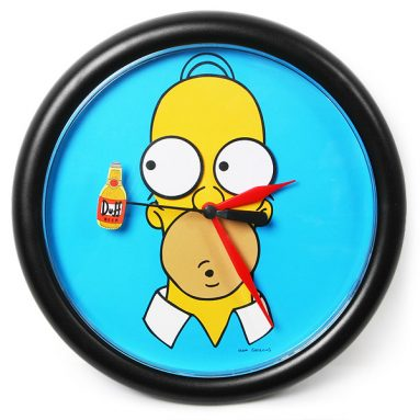 Homer Simpson Rotating Eyes Wall Clock