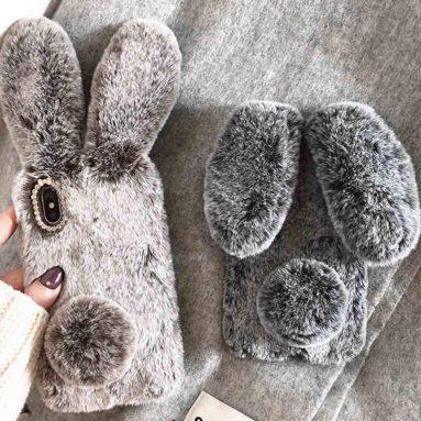 3D Plush Rabbit Phone Case for iPhone Xr Case