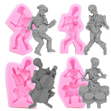 3D Skull Skeleton Cake Silicone Mould