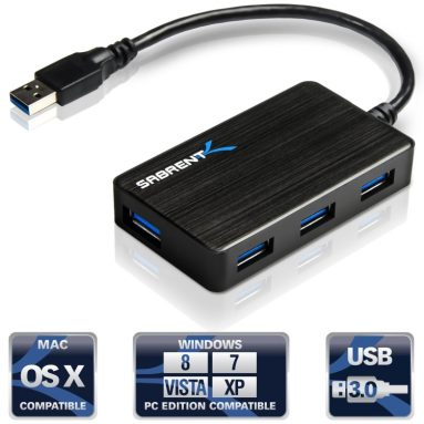 4 Port Portable USB 3.0 Hub