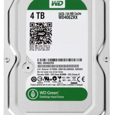 4 TB WD Green SATA III 5400 RPM 64 MB Cache Bulk/OEM Desktop Hard Drive