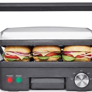 4-in-1 Contact Grill Griddle and Panini Press