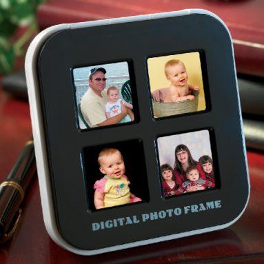 4-in-1 Digital Photo Frame and Alarm Clock