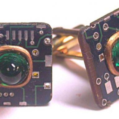Recycled circuit board CUFFLINKS