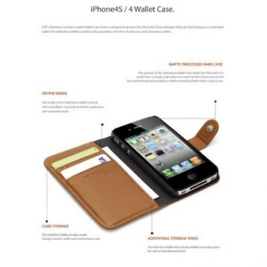 iPhone 4 / 4S Leather Wallet Case Valentinus Series