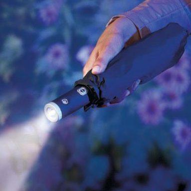 Umbrella with LED Flashlight Handle