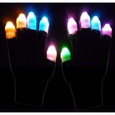 Black Ghost Raver Multicolor LED Lightshow Gloves