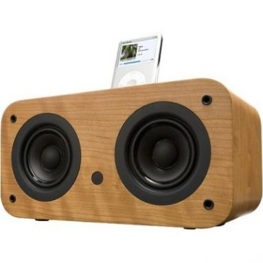 Wood iPod Speaker Dock