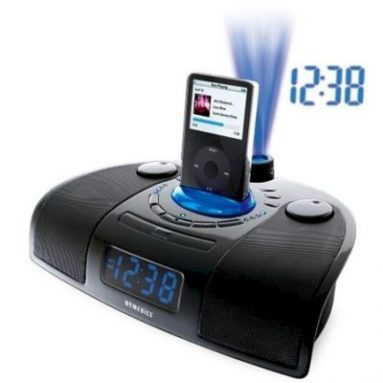 HoMedics iSound Spa Clock Radio with iPod Docking Station