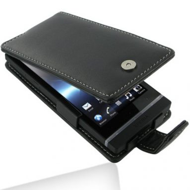 PDair Leather Case for Sony Xperia S – Flip Type
