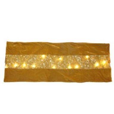 LED 20-Light Velvet Table Runner