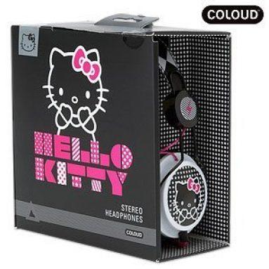 ZD Headphone Coloud Hello Kitty Black Comic Pop