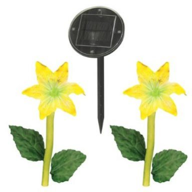 Malibu Solar Lily Flowers with Remote Panel