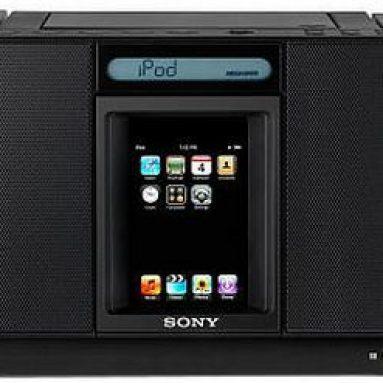 Sony black Ipod Iphone Boom Box Black