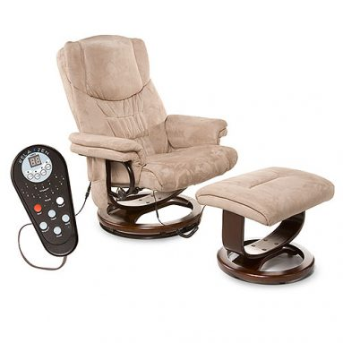 Microsuede Massage Recliner