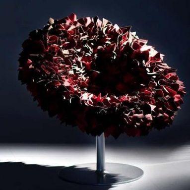 bouquet swivel armchair