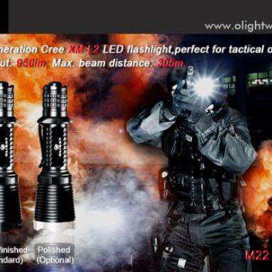 Warrior 950 Lumen CREE XM-L2 LED Tactical Flashlight