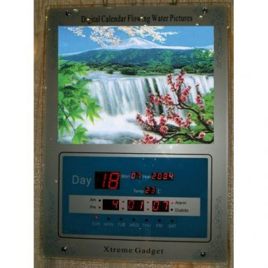 3D Stereoscopic Moving Picture Clock calendar