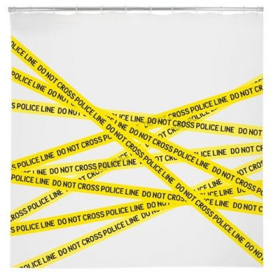 Shower Curtain – Police Line Do Not Cross EVA Plastic