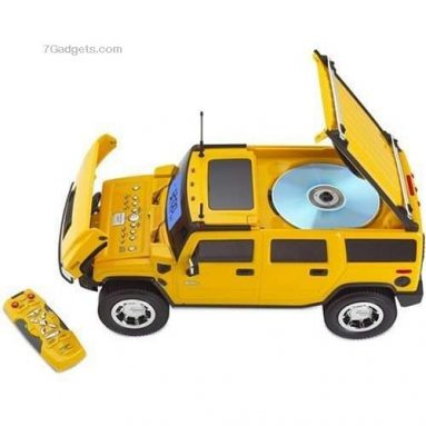 Hummer Truck-Shaped Clock Radio with CD Player