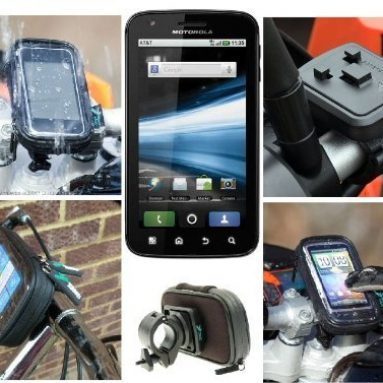 Bike Handlebar Mount with Waterproof Case fits the Motorola ATRIX Mobile Phone