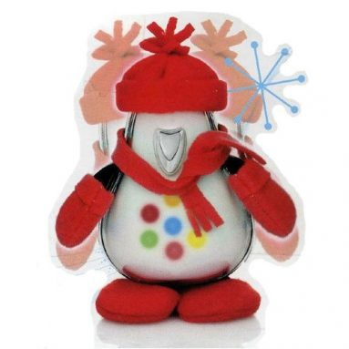 I-CY Penguin Speaker With Red Winter Chill Outfit for MP3 Players & More