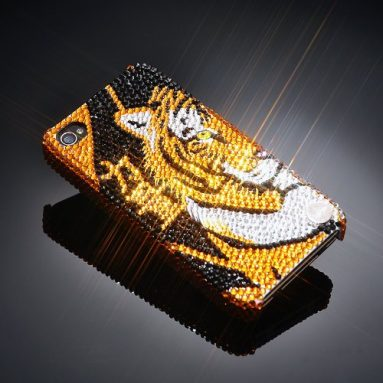 Tiger Power Swarovski Crystal iPhone 4 and 4S Case