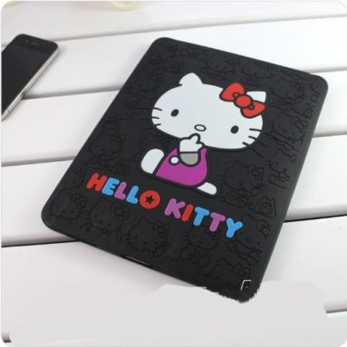 Hello Kitty Black Soft Silicone Back Case Cover