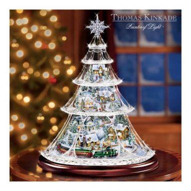Animated Crystal Tabletop Christmas Tree