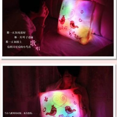 Warm and luminous pillow