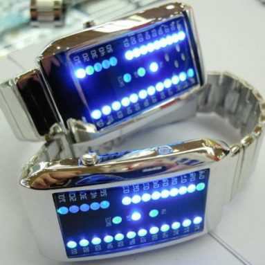 29 Blue LED Digital Date Sports Wrist Unisex Watch