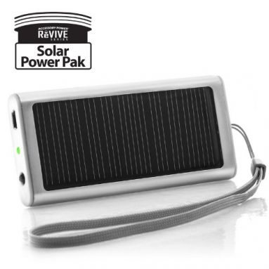 Solar Rechargeable Back-Up POWER Boost