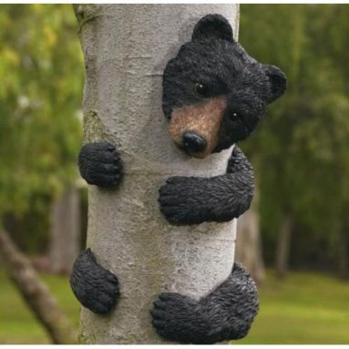 BLACK BEAR TREE FACE