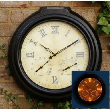 Solar Powered Clock with LED