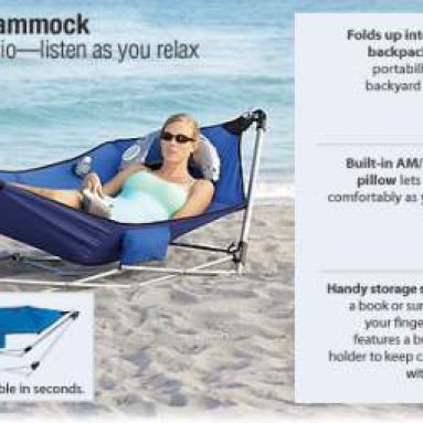 Deluxe Portable Backpack Hammock with Radio