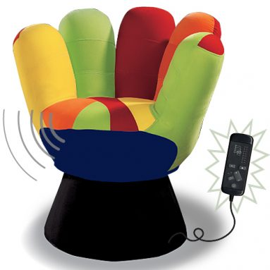 Vibrating Mini Mitt Chair Multi