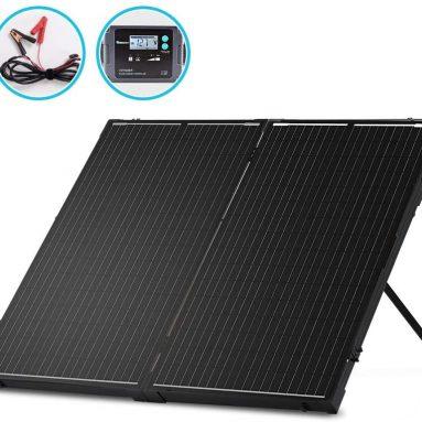 Renogy 200 Watt Monocrystalline Foldable Solar Suitcase, 200W Panel-20A Controller