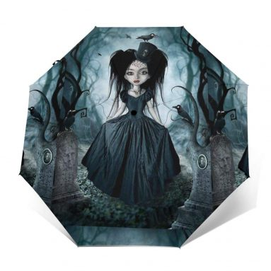 Queen Of The Crows Toon Hertz Sun Umbrella