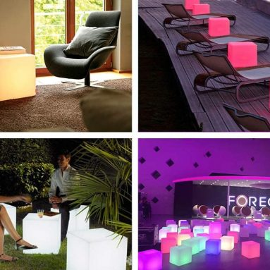 16-Inch Cordless LED Cube Chair Light