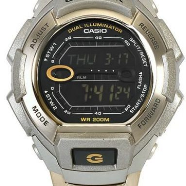Casio Men's G-Shock Silver Dial Shock Resistant Chronograph Watch