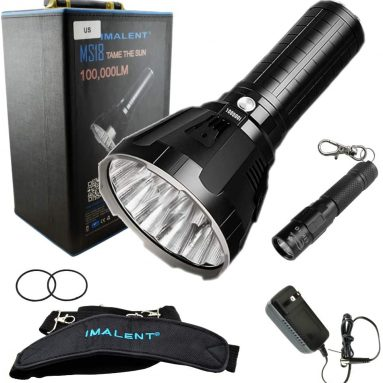 Flashlight LED Rechargeable Bright Light with 100,000 Lumens
