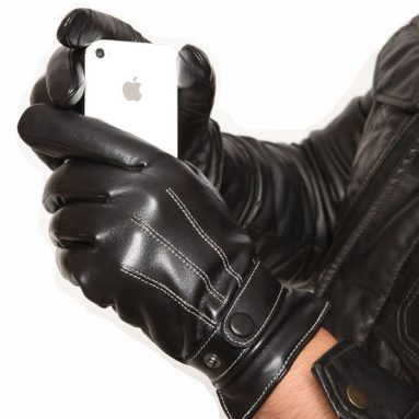 Men's Touch Screen Nappa Leather Winter Gloves Iphone Ipad Smart Phone