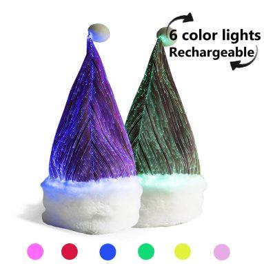 7 Colorful Lights LED Light up Santa Hat