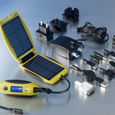 Yellow Portable Solar Charger
