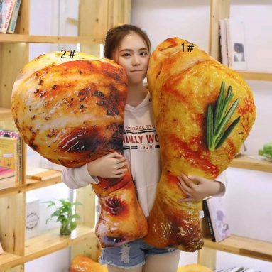 3D Chicken Leg Pillow