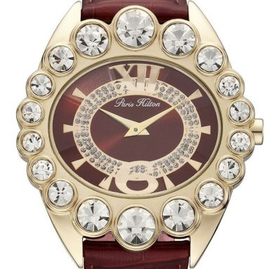 Paris Hilton Women's Crown Large White Stones Watch