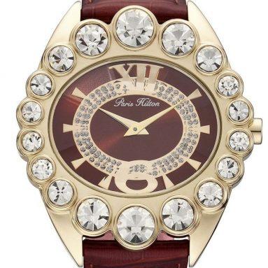 Paris Hilton Women's Crown Large White Stones Watch