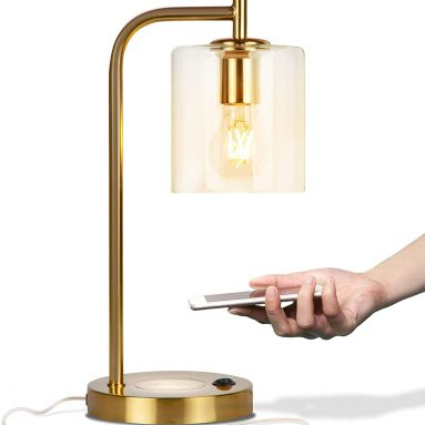 Elizabeth LED Desk Lamp with Wireless Charging Pad and USB Port