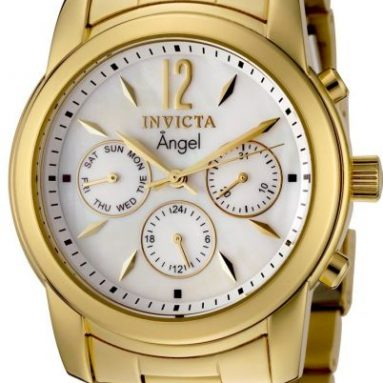 Angel Collection 18k Gold-Plated Stainless Steel Watch